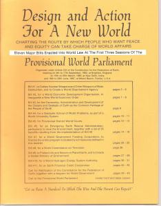 Call for Provisional World Parliament 1977 001